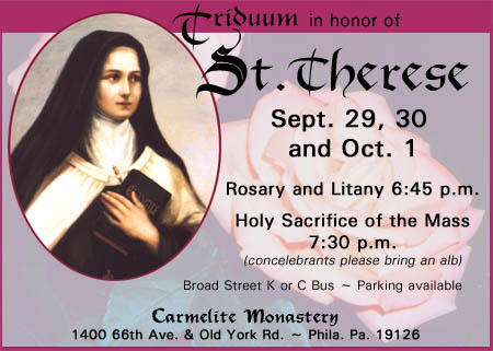 Triduum in Honor of St. Therese