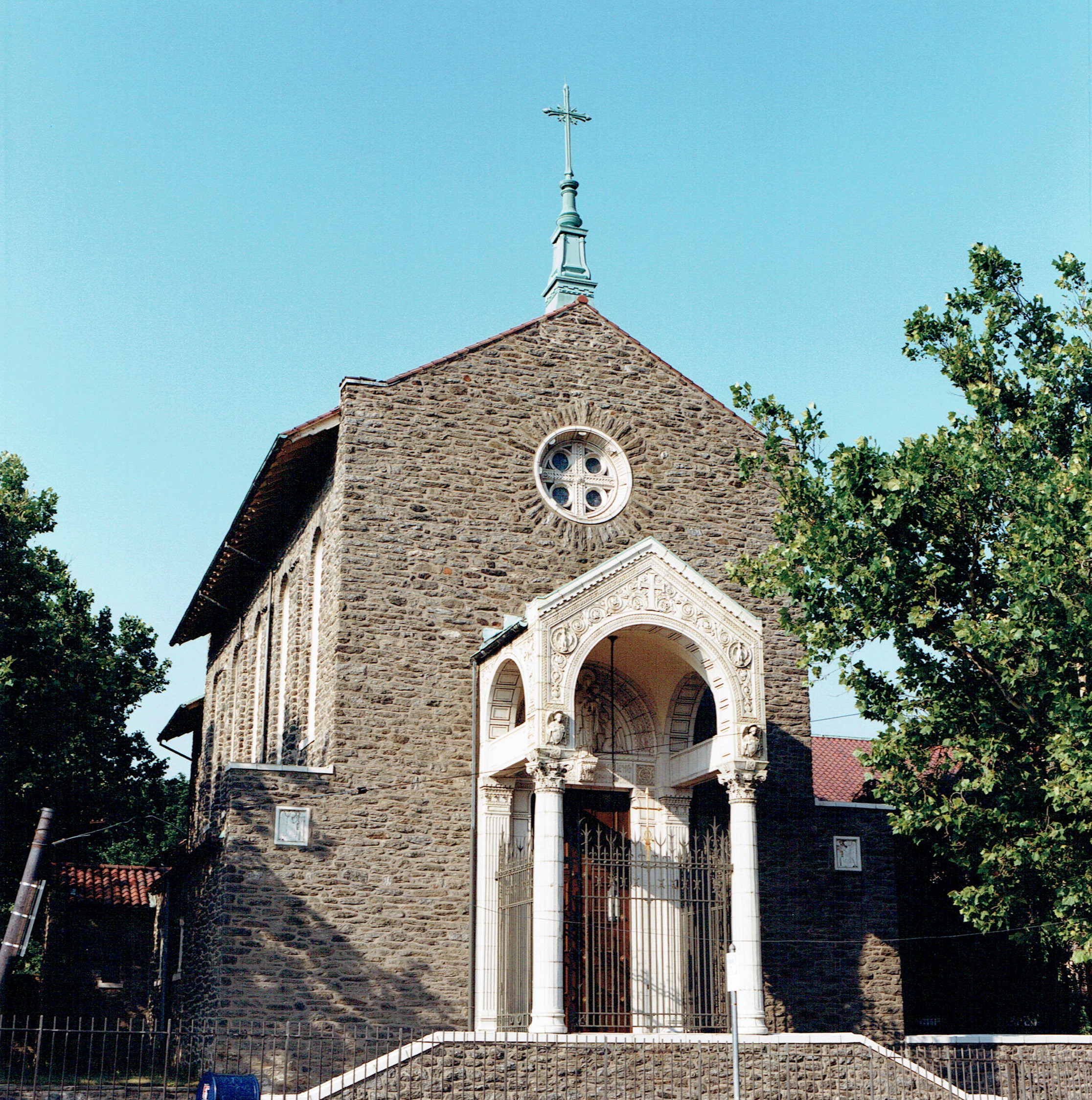 front of chapel