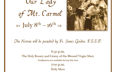 Novena In Honor Of Our Lady Of Mount Carmel